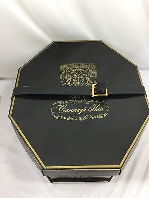 Vintage Cavanagh Hats Box ONLY W/Straps Metal Buckle 25993