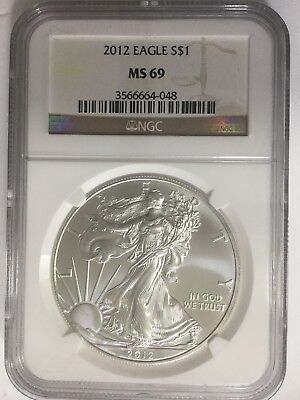2012 Silver American Eagle (NGC-MS69) #219