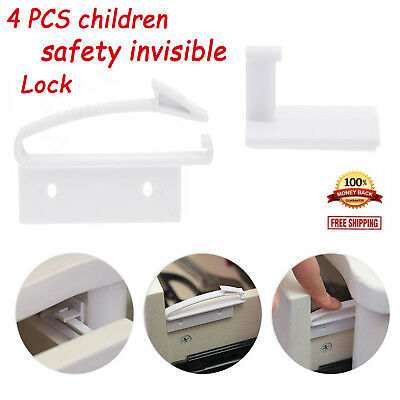 4PCS Multifunctional Baby Children Safety Invisible Drawer Lock Cabinet Straps