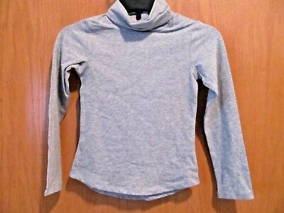 Girl's Light GRAY long sleeve Turtleneck top~Girl's SIZE LARGE 10-12~New W/Tags