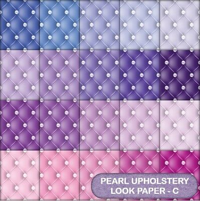 Pearl Upholstery Look  Scrapbook Paper - C - 20 A4 Pages