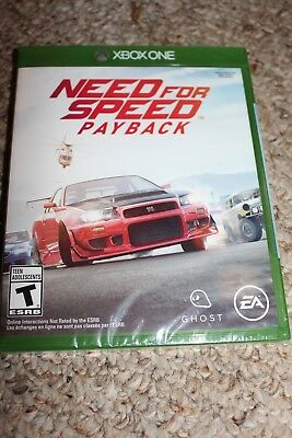 Need For Speed Payback (Microsoft Xbox One xb1) NEW Sealed