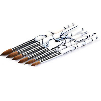 Professional Acrylic Handle Nail Art Brush Tool Kolinsky Sable Hair Nail Care