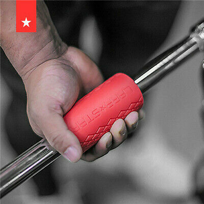 Barbell Dumbbell Thick Bar Silicone Grips