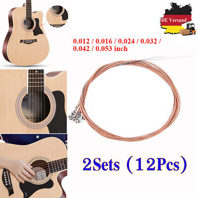 OPTIMA 24K GOLD 12-STRINGS Akustik Gitarren Saiten SATZ Acoustic Guitar Strings