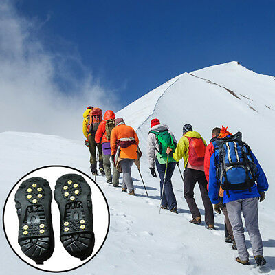 Non-slip Cleats Anti-Slip Overshoe Studded Snow Ice Traction Shoe Spike Cover