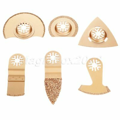 6pcs Mix Oscillating Multi Tool Carbide Saw Blades Kit For Woodworking Cutting