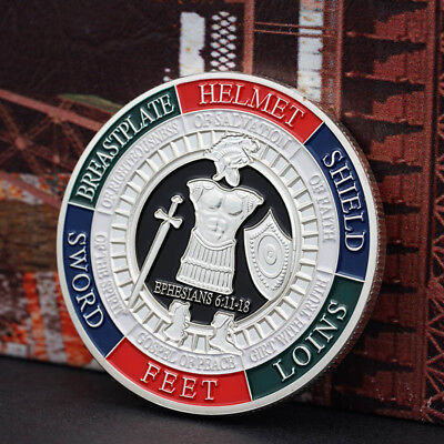 Gold Plated Put on the Whole rmor of God Commemorative Challenge Coin Gift