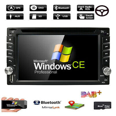 """6.2"""" 2DIN Car CD DVD Player Bluetooth Touch Screen Stereo Radio GPS+Park Camera"""