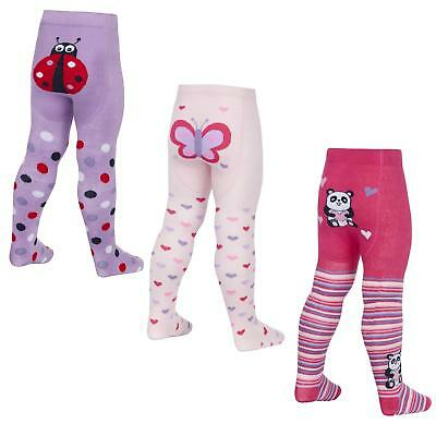 Babies Novelty Tights with Grip Soles ~ 0-24 Months ~ Panda, Ladybird, Butterfly