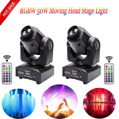 50W RGBW U`King DMX512 Beam Moving Head Stage Light Remote DJ Show Wedding Club