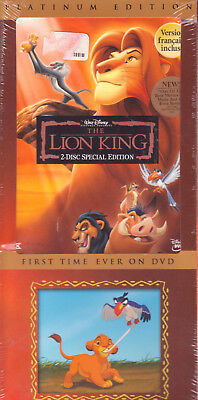 2 DVD SET - THE LION KING - PLATINUM EDITION Walt Disney Special LONG BOX - New!