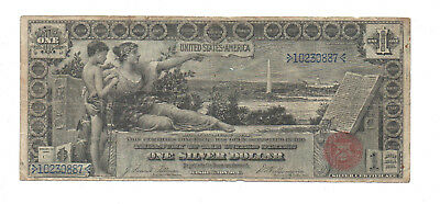 1896 US of AMERICA $1. SILVER CERTIFICATE. LARGE SIZE NOTE. PAPER MONEY