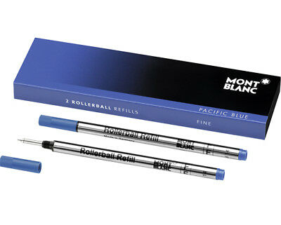 Montblanc Rollerball Refills - 2 Pack - Pacific Blue - Medium Point MB105159