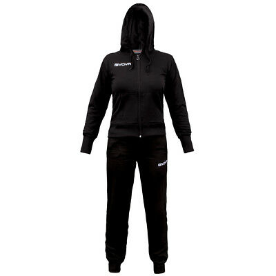 TUTA GIVOVA da donna LADY TR015 TRAINING NERO BLACK