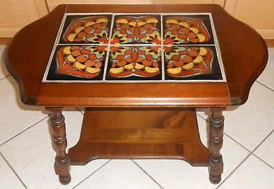 Vintage 1930's California Pottery 6-Tile Table