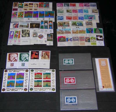 Israel 1971-1974 MNH/mint Tabs Collection 62 diff stamps & 6 S/S