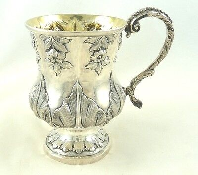 Sterling Silver  Christening Mug Baptism Cup Antique English C1830