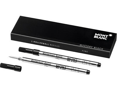 Montblanc Refills Black 2 Pack Medium Point Rollerball Pen MB105158