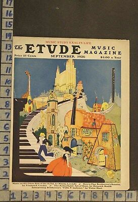 1926 Music Town Instrument Fantasy Romance Love Piano Illus Cooke Cover Rj48