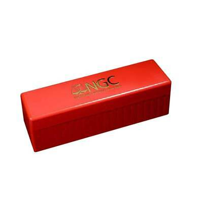 Official Red And Gold Ngc Certified Coin Holder Storage Box Holds 20