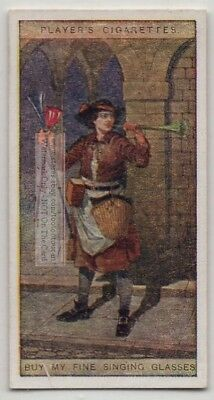 Singing Glasses London British Street Peddler Original 100+ Y/0 Trade Ad Card
