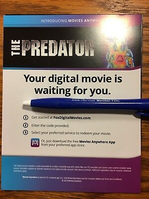 The Predator 2018 HD Digital Code Only