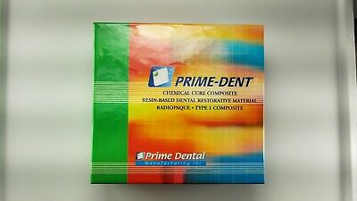 PrimeDent  Chemical SelfCure Composite Resin Kit 15gm/15gm exp:2021-09 pack of 1
