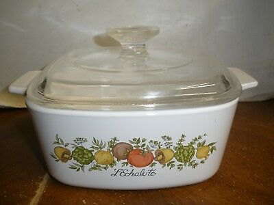 Corning Ware SPICE OF LIFE A-1 1/2-B 1 1/2 Quart Casserole with Glass Lid
