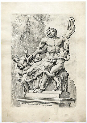Antique Print-LAOCOON AND SONS-GROUP-SCULPTURE-ROME-MYTHOLOGY-1-Perrier-1638