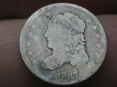 1837 Capped Bust Half Dime- Small 5C- VERY RARE