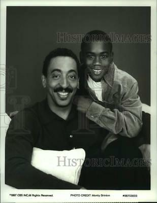 "1997 Press Photo Gregory Hines, Brandon Hammond in ""The Gregory Hines Show"""