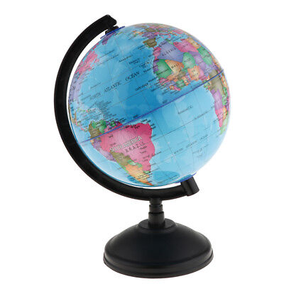 14cm Swivel World Globe Map Nation/Ocean Geography Student Education Blue