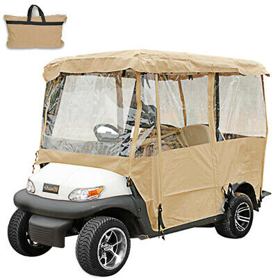 4 Passenger Golf Cart Cover Driving Enclosure Buckle Universal Protection