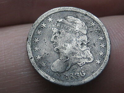 1836 Capped Bust Half Dime- Large 5C
