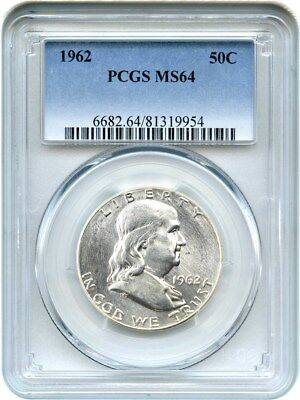 1962 50c PCGS MS64 - Franklin Half Dollar