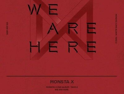MONSTA X WE ARE HERE 2nd Album TAKE.2 -4 Ver SET 4CD+4PhotoBook+8Card+4Pre-Order