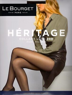 Le Bourget Héritage Luxe 20 Den STW Tights Pantyhose - X-Large - Moka (Ecorce)