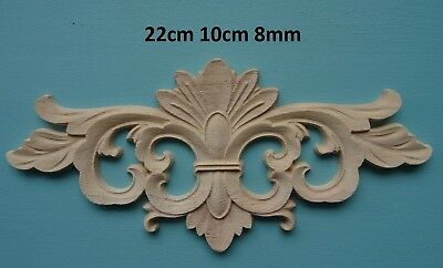 Decorative wooden large scroll center appliques furniture mouldings onlay W54