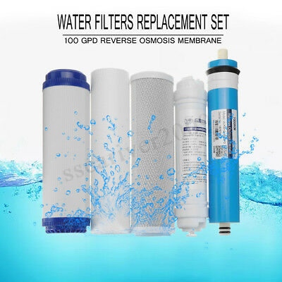 Reverse Osmosis Complete 5 Stage Replacement Water System 100Gpd Ro Filters X 5