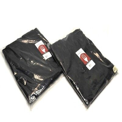 """(2) NEW Chef Works NBBP-000-3XL Black Essential Baggy chef Pants """"3XL"""""""