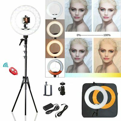 """18"""" Dimmable LED Ring Light Diffuser with Stand Mirror Selfie Make Up Studio Kit"""