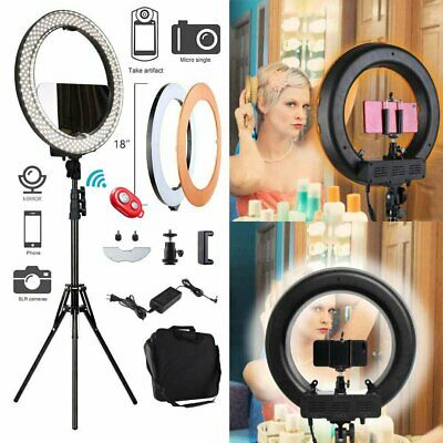 """New 12"""" Dimmable LED Ring Light Kit with Light Stand 6200k Camera Photo Video EL"""
