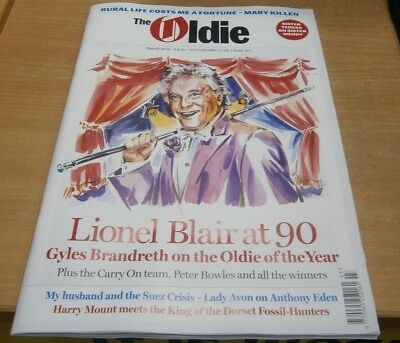 The Oldie magazine #371 Mar 2019 Gyles Brandreth on Lional Blair at 90 + CarryOn