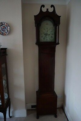 Antique Mahogany 8 Day Longcase Clock In Good Condition And Working Order