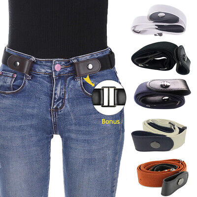 Buckle-Free Elastic Belts Womens Mens Invisible Belt for Jeans No Bulge Hassle.