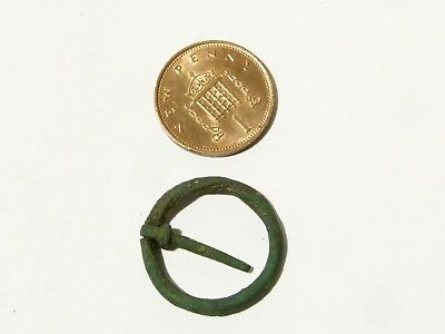 Medieval Ring Brooch Cable Decoration Metal Detector Find - Ex Martins Lot #CM96