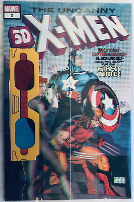 Marvel Comics Uncanny X-Men 3D #1 polybagged with Glasses
