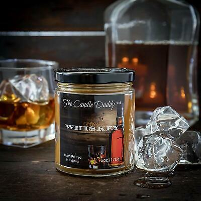 Whiskey Alcohol Liquor Scented Bourbon 6oz Candle 40 Hour The Candle Daddy NEW