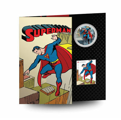 2013 Canada 50c 75th Anniversary of Superman: Then and Now - Coin and Stamp Set